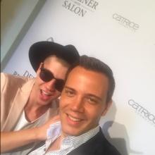 Fashion Influencer und Blogger Maximilian Seitz und Wolf-Thomas Karl auf dem Red Carpet des Berliner Mode Salons