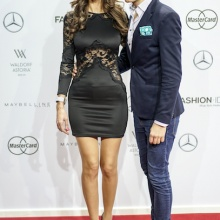 Red Carpet Fashion Week Berlin - Wolf-Thomas Karl mit Topmodel Janina Youssefian